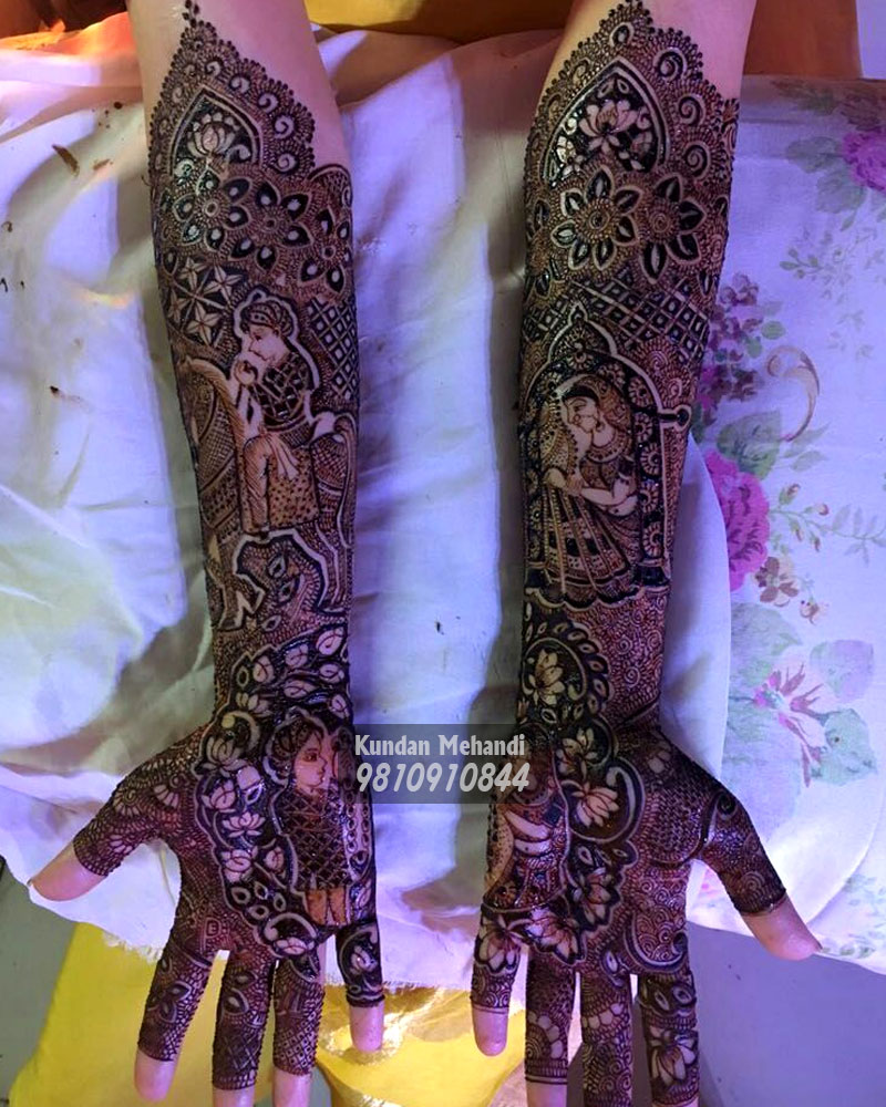 Bridal mehandi design in delhi